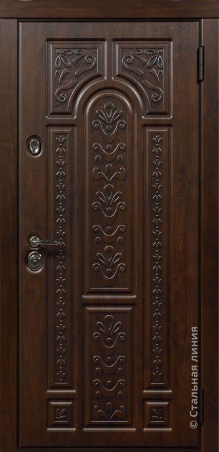 Рафаэль входная дверь с художественной фрезеровкой стальная линия ХФ-31