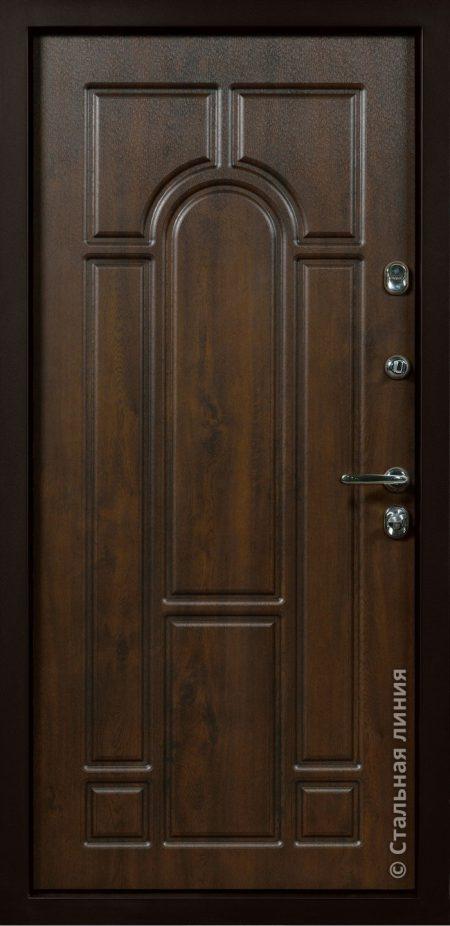 Рафаэль входная дверь с художественной фрезеровкой стальная линия Н-90