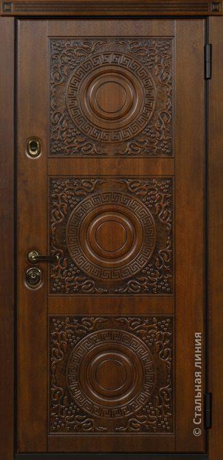входная дверь с художественной фрезеровкой милано стальная линия хф-34