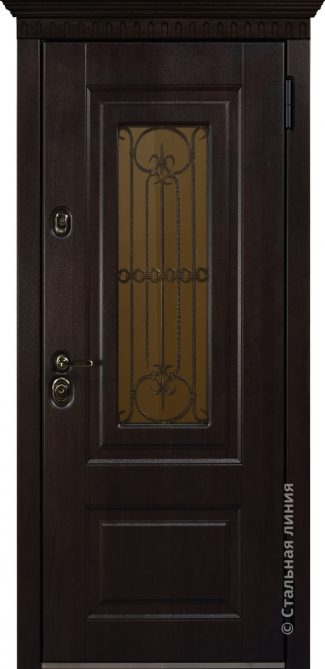 сорренто уличная дверь с окном стальная линия