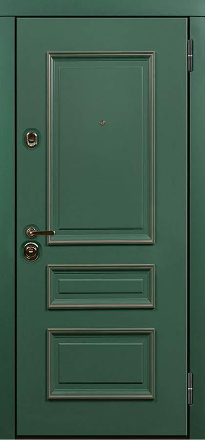 Барон Входная дверь стальная линия классическая с багетом эмаль Л-1