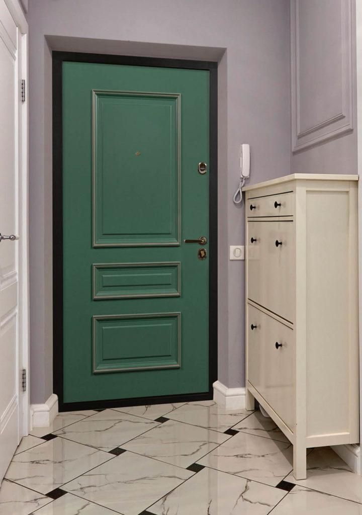 Входная дверь стальная линия классическая с багетом эмаль Л-1