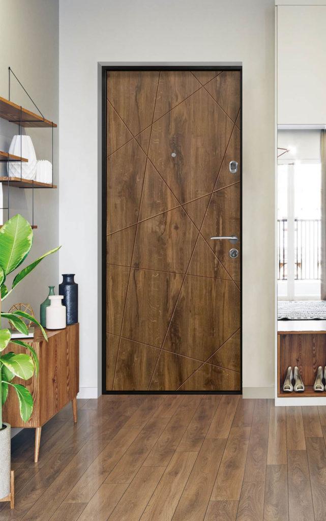 клео входная дверь стальная линия хаотичный рисунок д-13