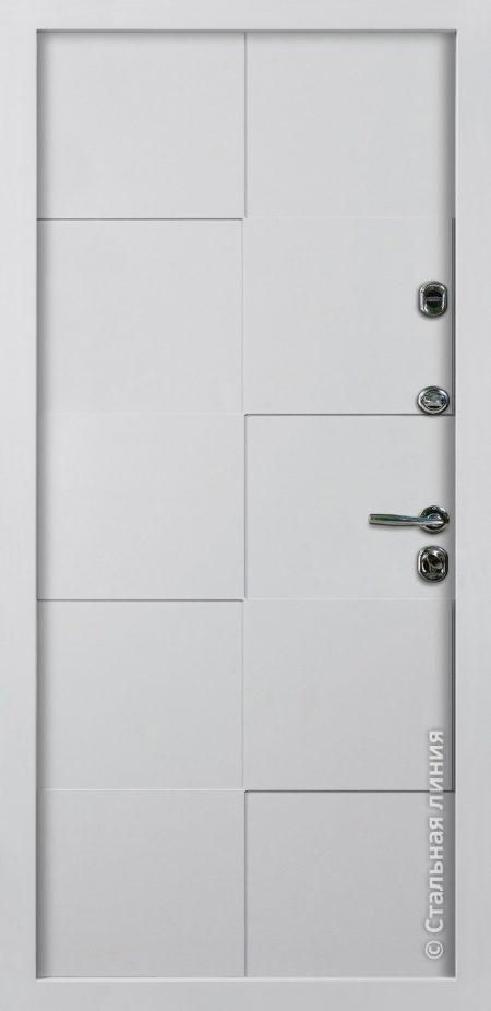 белая входная дверь Квадро Стальная Линия Д-14