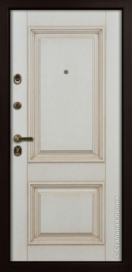 входная дверь Ливерпуль Стальная Линия классическая дверь с багетом светлая