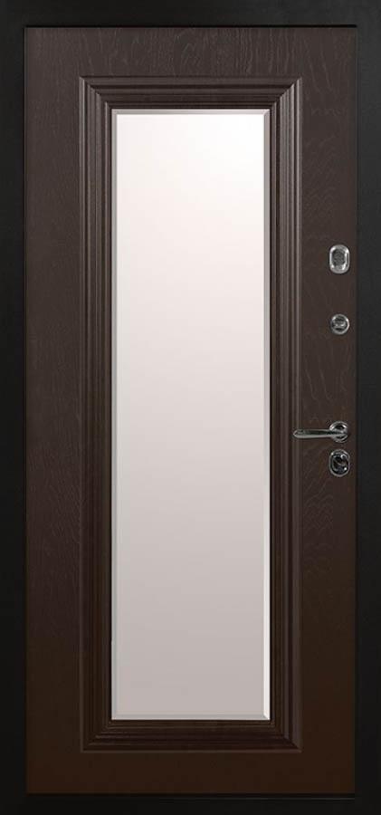 полонез входная дверь с зеркалом и багетом в классическом стиле Л-5