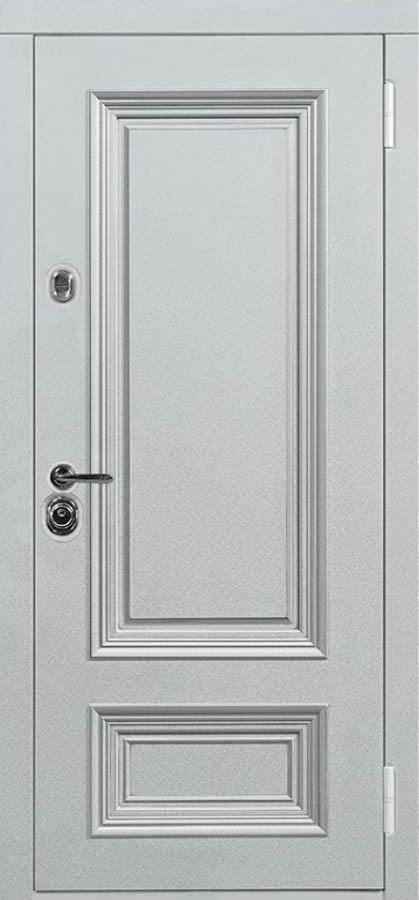полонез входная дверь с зеркалом и багетом в классическом стиле Поло