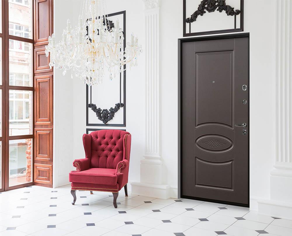 Тюдор входная дверь в классическом стиле стальная линия