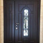 двупольная уличная дверь Тауэр Стальная Линия