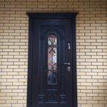 уличная дверь Лацио ХФ-31 стекло ковка Стальная Линия