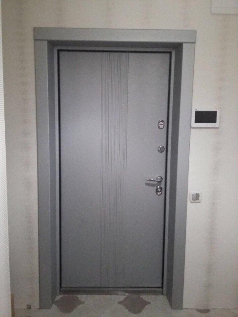 входная дверь рейн Д-5 откосы стальная линия