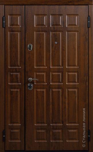 двупольная уличная дверь атлант стальная линия