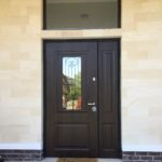 дверь Сорренто стекло ковка стальная линия