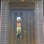 дверь Лацио ХФ-31 двупольная с фрамугой стеклопакет ковка Стальная Линия