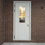дверь Сорренто стекло решётка Стальная Линия