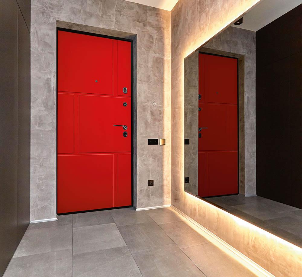 Фламенко входная дверь Стальная Линия покраска по RAL
