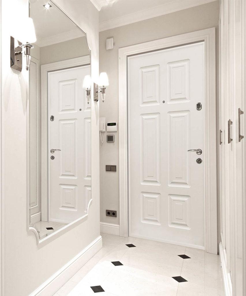 белая Входная дверь стальная лиия П-36