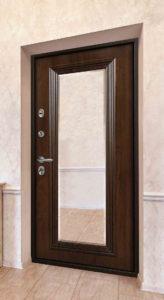 входная дверь с зеркалом стальная линия