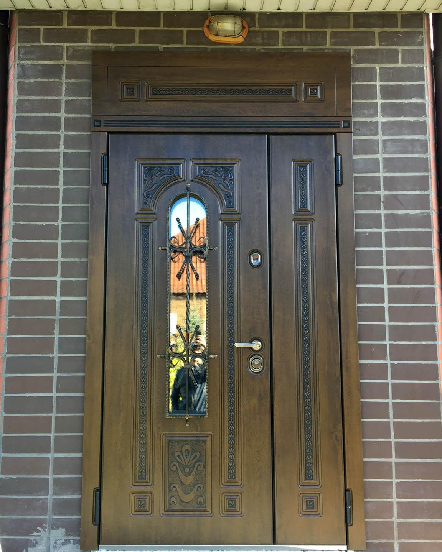дверь Лацио фрамуга двупольная Стальная Линия