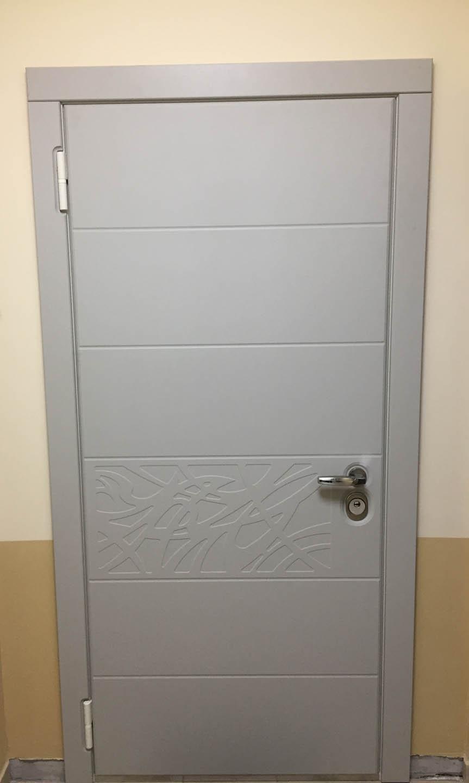 дверь Деко Стальная Линия
