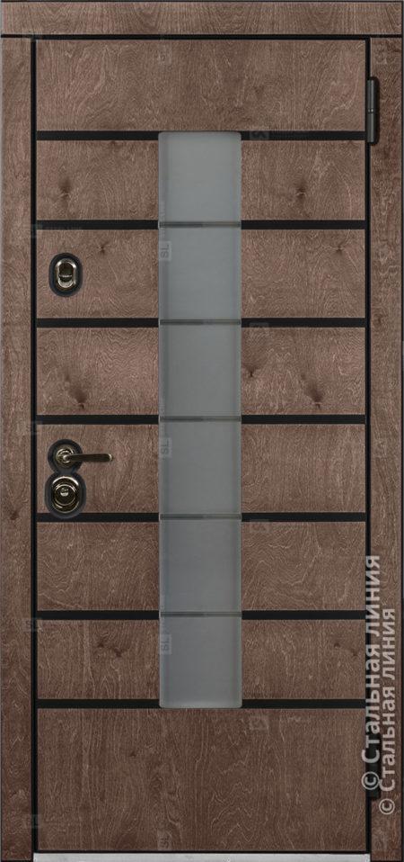 Аликанте (Alikante) входная уличная дверь Стальная Линия Bjork Н-71 О-С