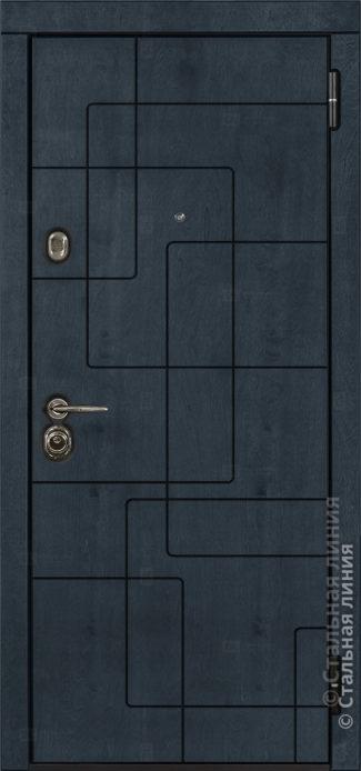 Аваланж (Avalanche) лайт входная дверь в квартиру Стальная Линия Bjork CR.01