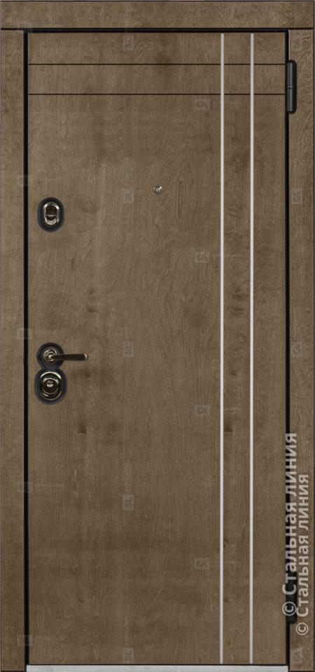 Грэйс (Grace) входная уличная дверь Стальная Линия Bjork CM.04