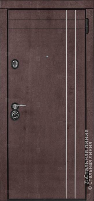 Грэйс (Grace) Лайт входная дверь в квартиру Стальная Линия Bjork CM.04