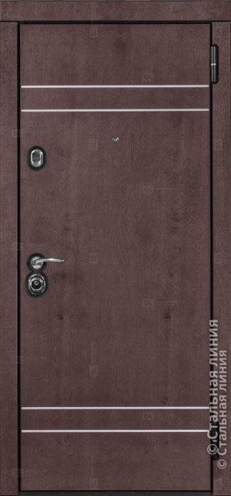 Винсент (Vinsent) лайт входная дверь в квартиру Стальная Линия Bjork CM.02