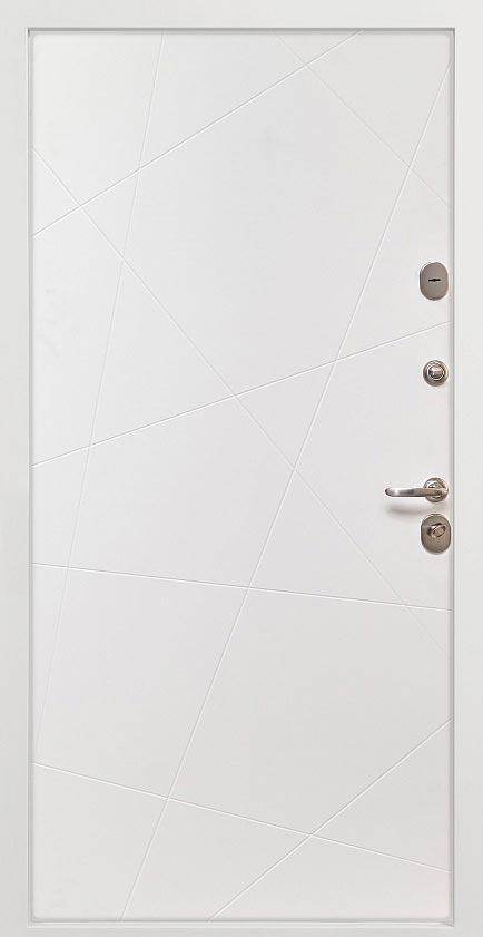 Входная дверь Белла в наличии со склада Стальная Линия ясень белый Д-13