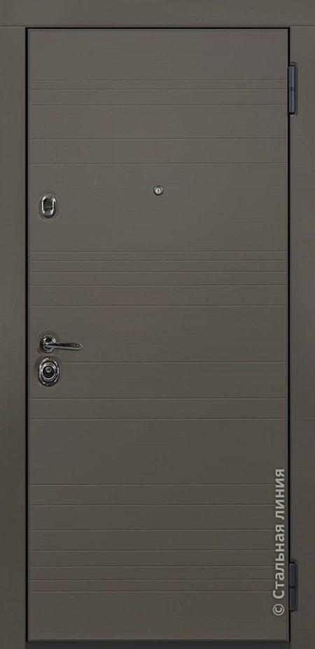 Грэй входная дверь в наличии Стальная Линия