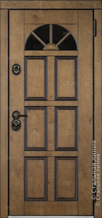 Кармен (Carmen) входная уличная дверь со стеклом Стальная Линия Bjork П-44 О-В