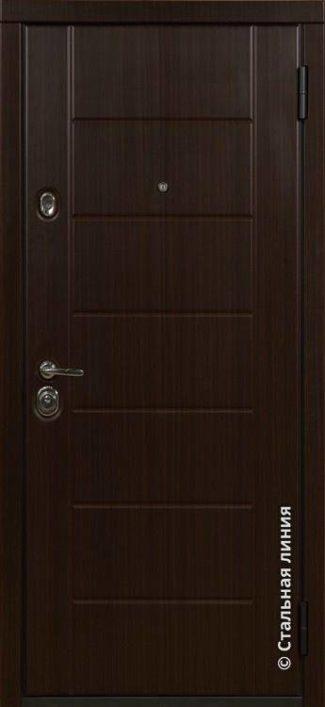 Милфорд входная дверь в наличии по складу Стальная Линия венге тёмный Н-55