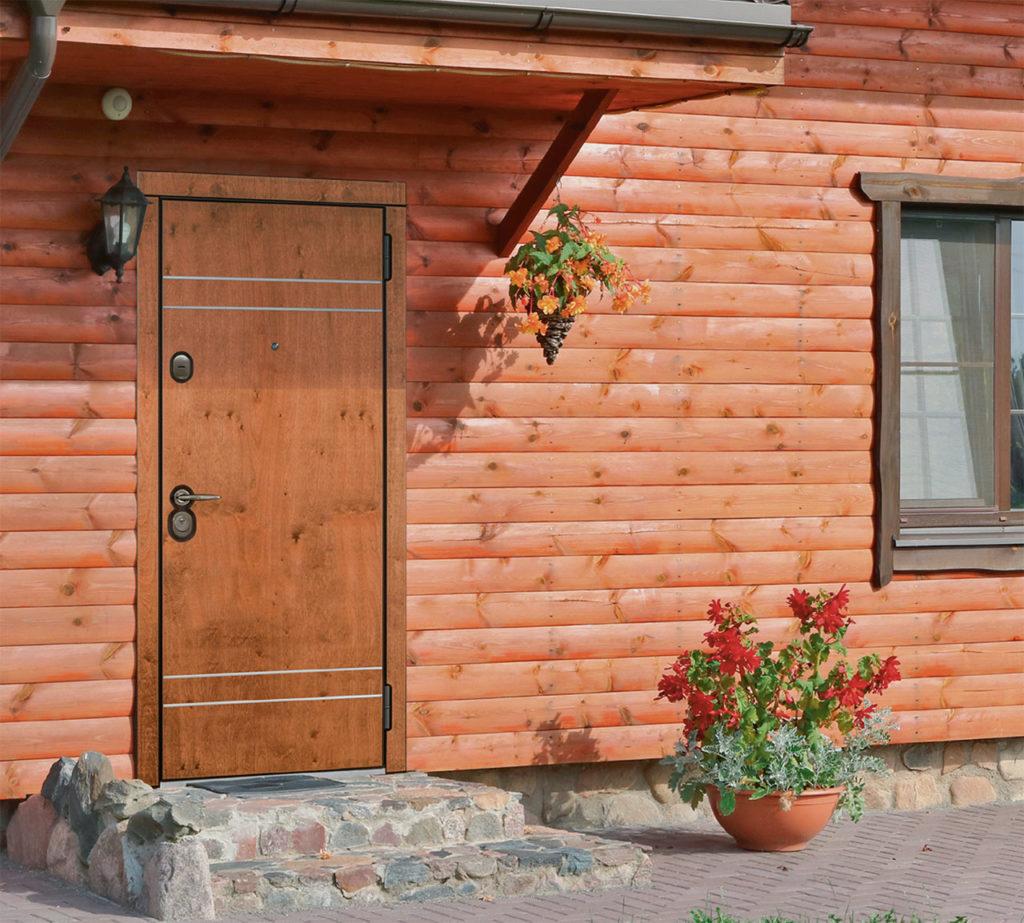 Входная уличная дверь для дома с терморазрывом Винсент Стальная линия белорусские двери