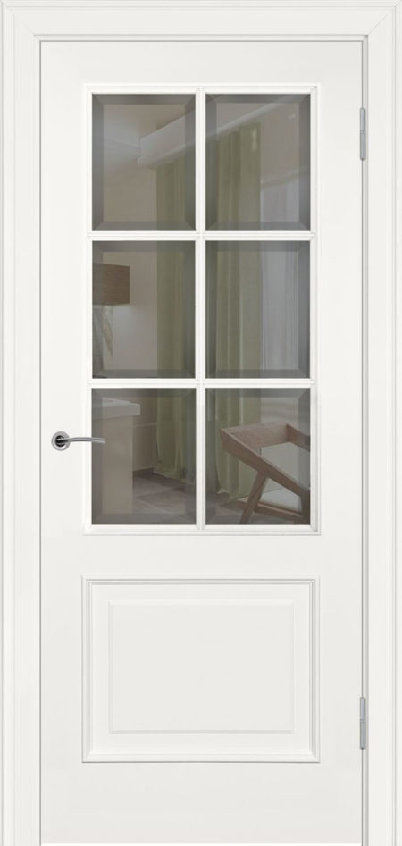 232.3 R1 ДО элитные межкомнтаные двери эмаль фацет Potential Doors