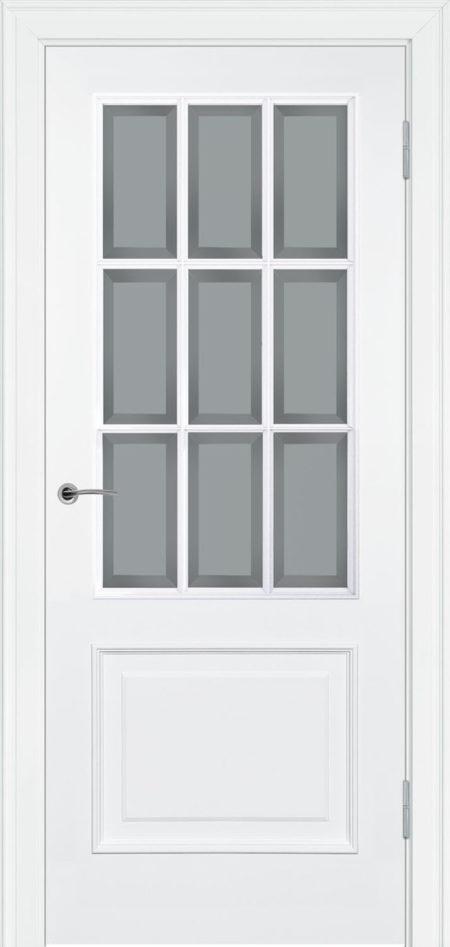 232.3 R2 ДО элитные межкомнтаные двери в эмали с фацетом Potential Doors