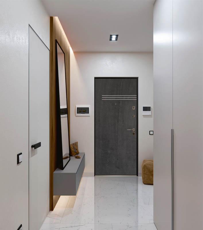Vincent Bjork Стальная линия дверь в квартиру натуральный шпон