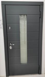 Аликанте серия 92 терморазрыв уличная дверь со стеклом Стальная Линия