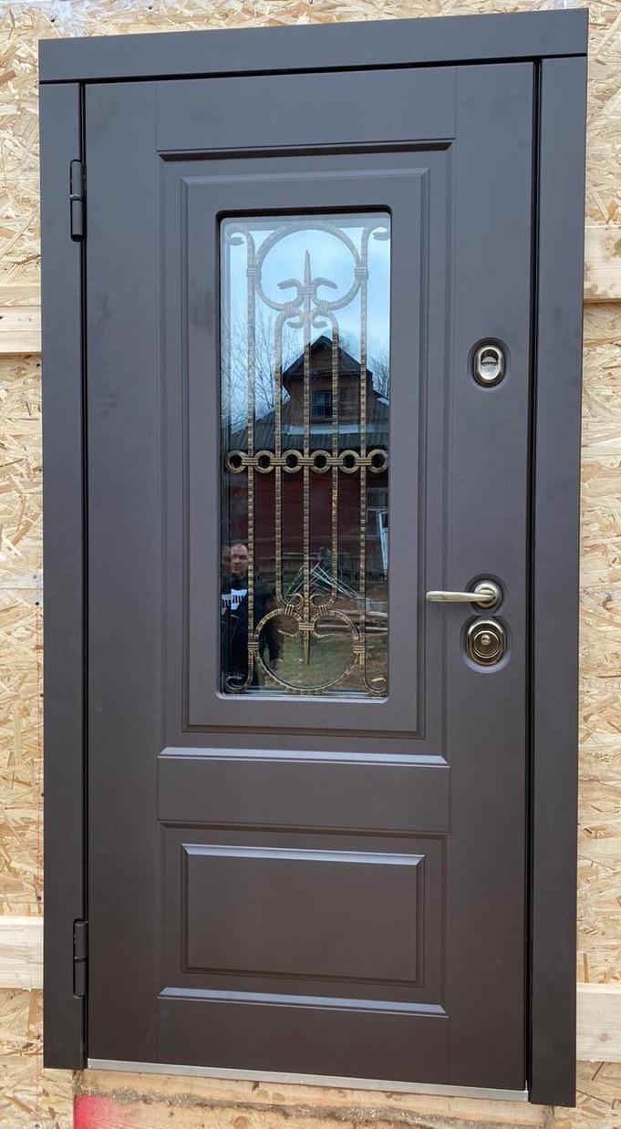 уличная дверь с терморазрывом соренто окно эмаль коричневая стальная линия