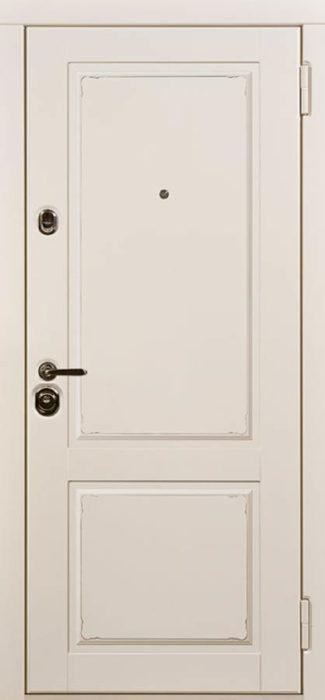 Амели белая входная дверь классический стиль стальная линия П-41
