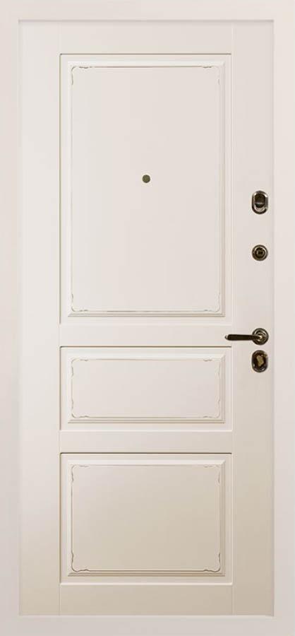 Амели белая входная дверь классический стиль стальная линия П-43