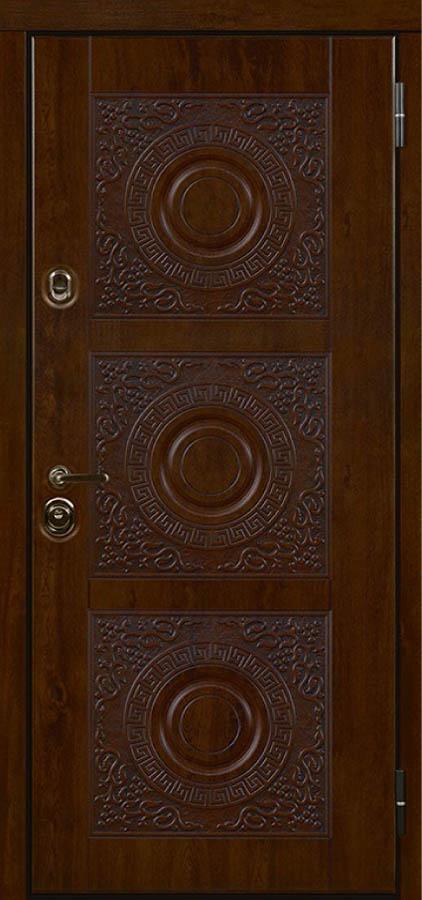 Богема входная дверь с художественной фрезеровкой стальная линия ХФ-34