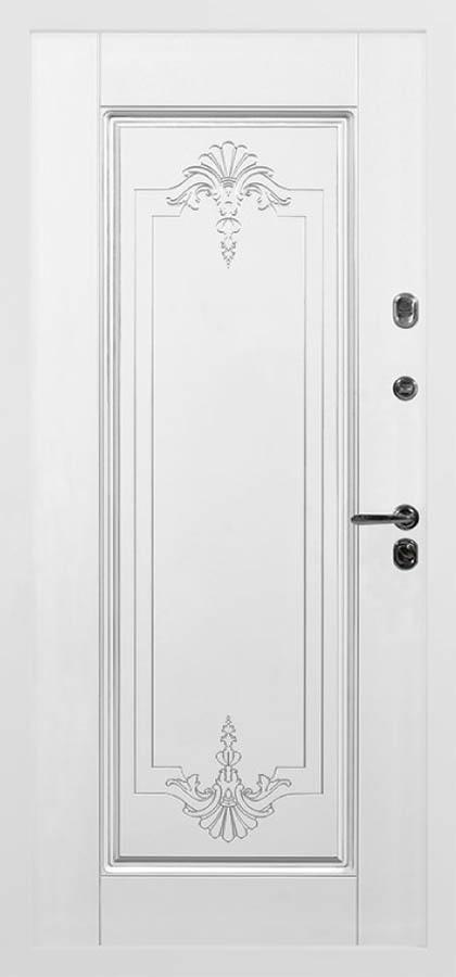 Богема входная дверь с художественной фрезеровкой стальная линия П-11