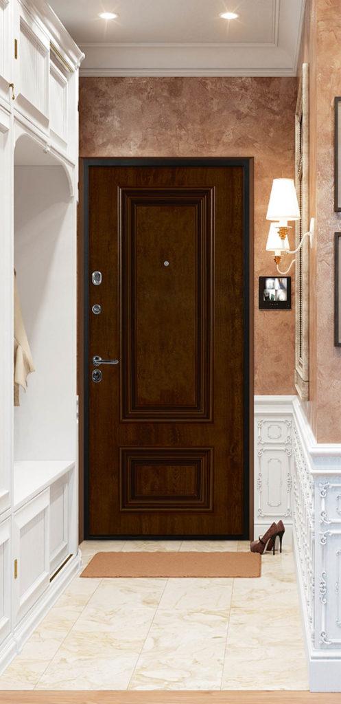 Поло входная дверь классика багет стальная линия