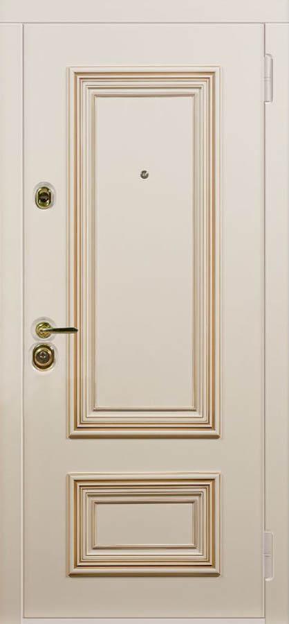 Поло входная дверь в классическом стиле с багетом стальная линия