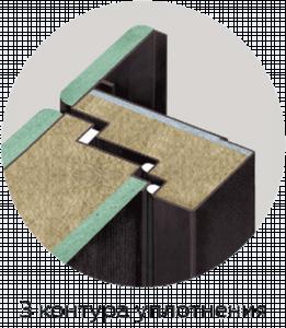 три контура уплотнения трехконтурная входная дверь стальная линия
