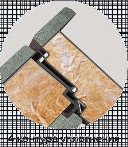 четыре контура уплотнения четырехконтурная входная дверь стальная линия