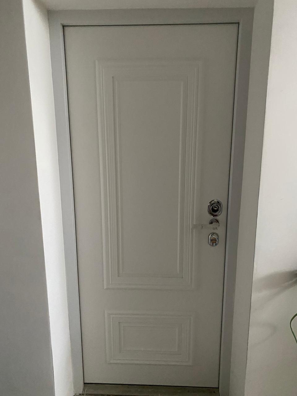 входная дверь классический стиль эмаль багет поло стальная линия