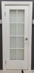 межкомнатная дверь в классическом стиле стекло сатинат английская решётка enamel classic 221.1 potential doors