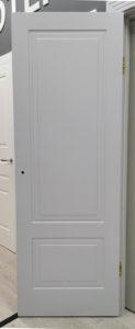 межкомнатная дверь неоклассика два квадрата с заниженной филёнкой enamel classic 244.2 potential doors